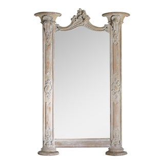 Carved Italian Architectural Mirror C. 1900's