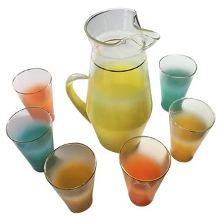 Blendo Glass Pitcher and Tumblers - Set of 7