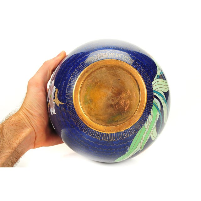 Japanese Antique Blue Cloisonne Vase - Image 7 of 7