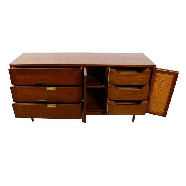 American of Martinsville Walnut Dresser Sideboard - Image 4 of 8