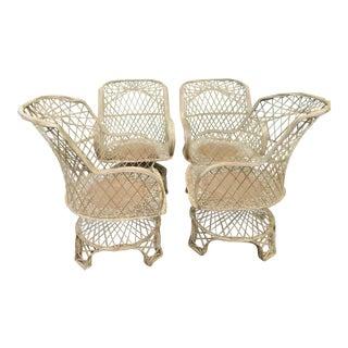 Vintage Spun Fiberglass Swivel Chairs - Set of 4