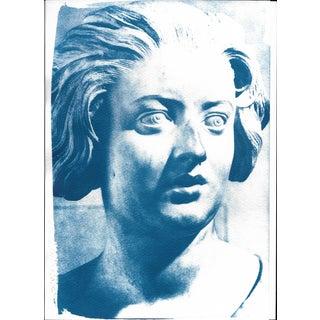 Cyanotype Print - Bernini Woman Bust Sculpture