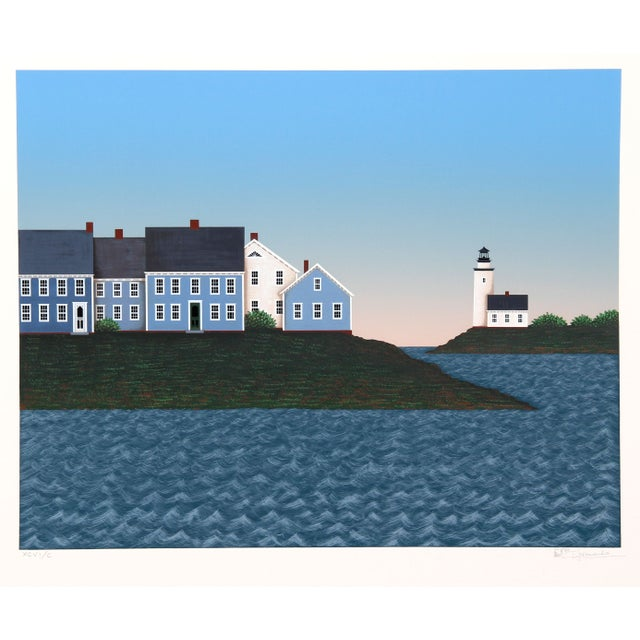 Image of Theodore Jeremenko - Town & Lighthouse Silkscreen