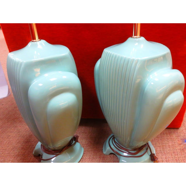 Hollywood Regency Mint Lamps - A Pair - Image 7 of 10