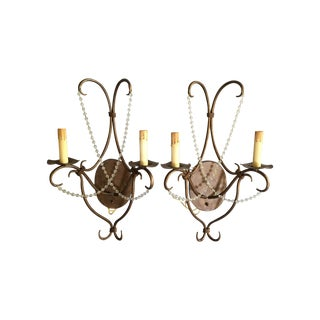 Currey & Company Crystal Lights Sconces - Pair