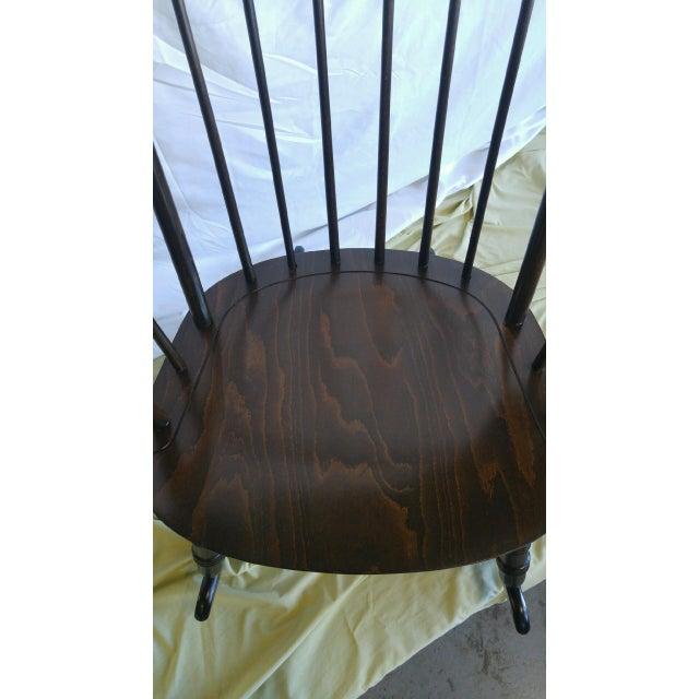 Vintage Spindle Back Windsor Rocking Chair - Image 4 of 5