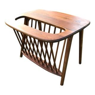 Umanoff Walnut Magazine Rack Side Table
