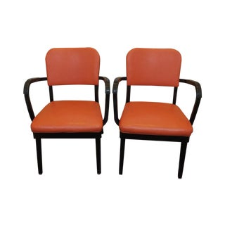 Orange Industrial Office Chairs by All Steel -Pair