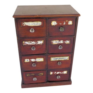 1920's Apothecary 8 Drawer Chest