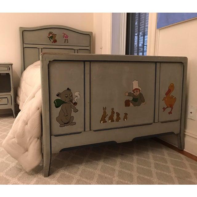 Children's Antique French Bedroom Furniture Set - Bed (1 of 3 Pieces) -  Image - Children's Antique French Bedroom Furniture Set - Bed (1 Of 3