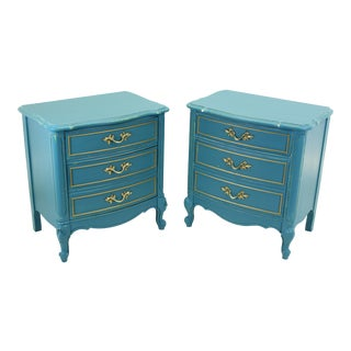 Vintage Dixie French Nightstands - A Pair