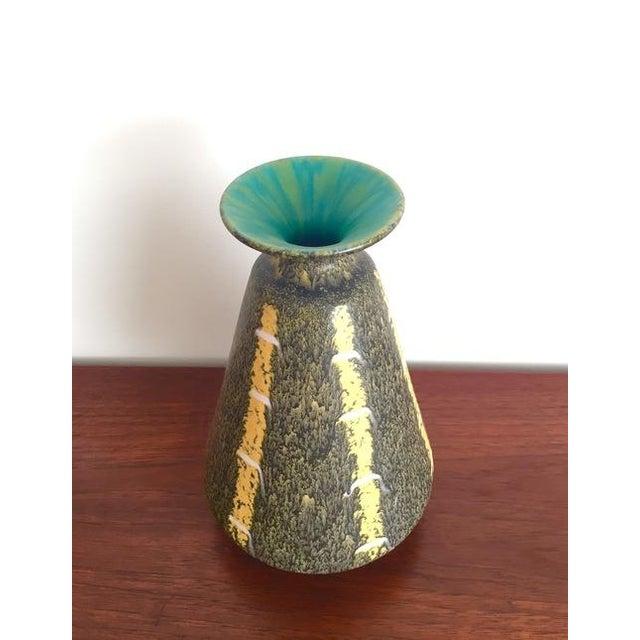 Scheurich Ceramics Yellow Striped Vase - Image 2 of 4