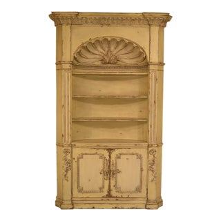 Gustavian Crackle Paint Corner Cabinet