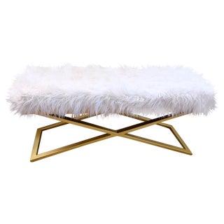 Modern Faux Fur Bench