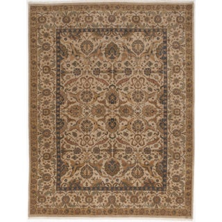 """Indo-Persian Hand-Knotted Rug - 9'2"""" x 12'"""