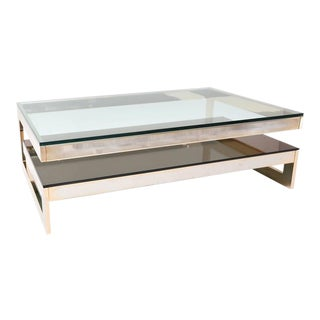 23 Kt Gold Layered Two Tier Coffee Table
