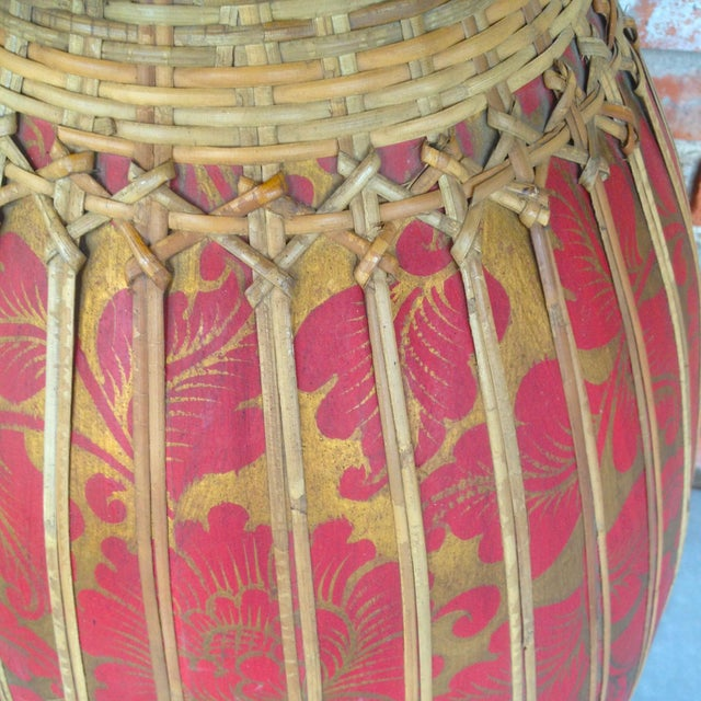 Image of Thai Bamboo Vase Sculpture