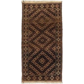 "Vintage Afghan Baluch Rug - 3'3"" x 6'4"""