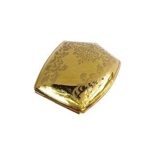1950s Coro Gold Tone Powder Makeup Compact
