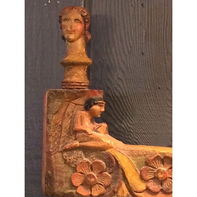 Jo Meade Striking Artisan Carved Mirror - Image 4 of 5