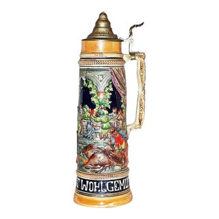Ceramic & Pewter Gerz German Stein