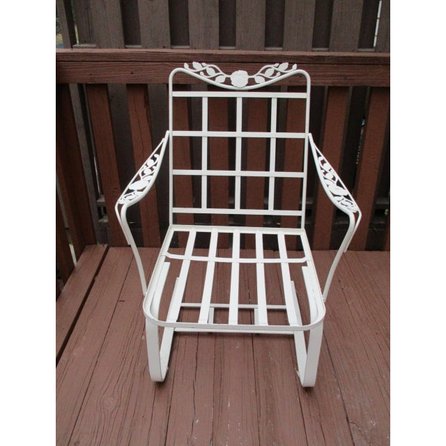 Vintage Russell Woodard Wrought Iron Chairs - Pair - Image 7 of 11