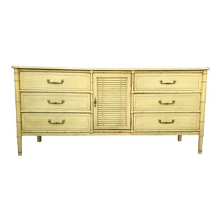 Vintage Faux Bamboo Henry Link Bali Hai Dresser
