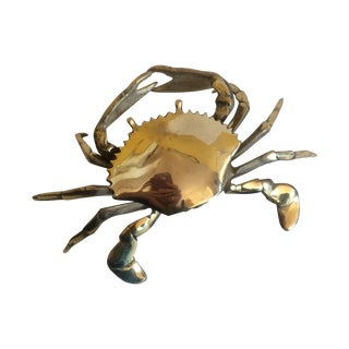 Coastal Living Brass Crab Ash Tray