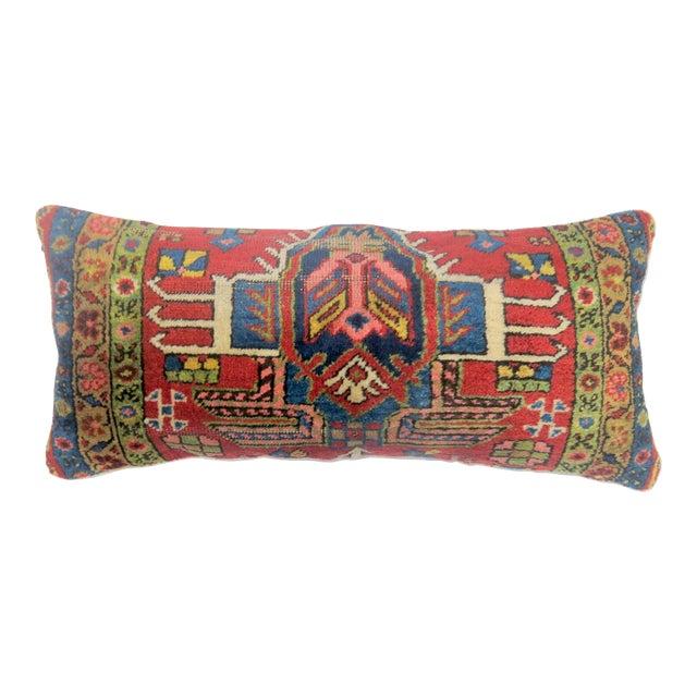 Antique Heriz Bolster Rug Pillow