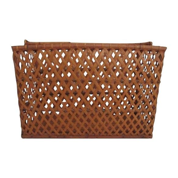 Vintage Handmade Wicker Basket - Image 1 of 6