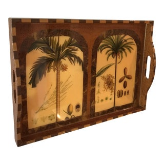 "Exquisite ""Palm Ii"" Signed Lacquer Palm Tray"