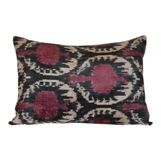 """Paty"" Ikat Silk Velvet Pillow"