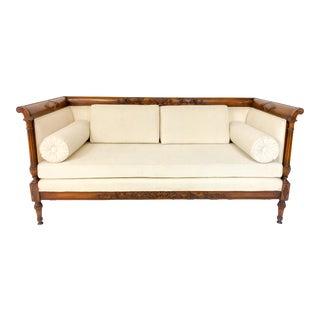 1940s Vintage Carved Mahogany Sofa