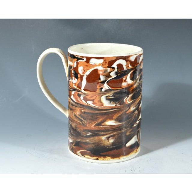Marbled Creamware Mocha Pottery Tankard. - Image 4 of 6