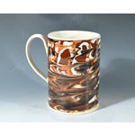 Image of Marbled Creamware Mocha Pottery Tankard.