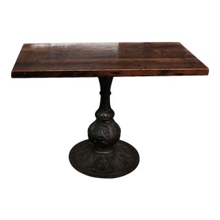 Pine Bistro Table With Pedestal Base