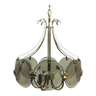 Smoked Glass Disc Chandelier