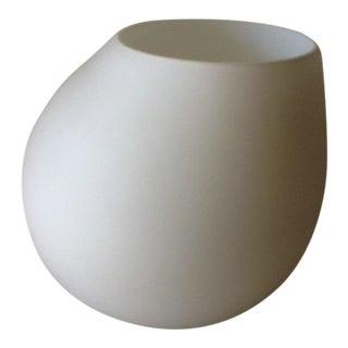 Mod Matte White Glass Vase