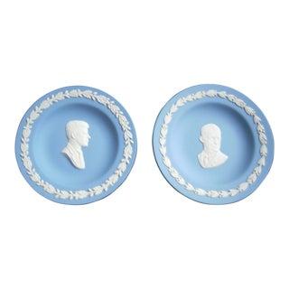 Wedgwood President Medallion Plates - A Pair