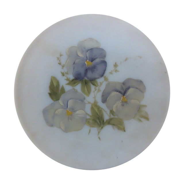 Hand-Painted Pansies Plate - Image 1 of 4