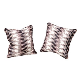 Ikat Pillows in Christopher Farr Cloth - A Pair