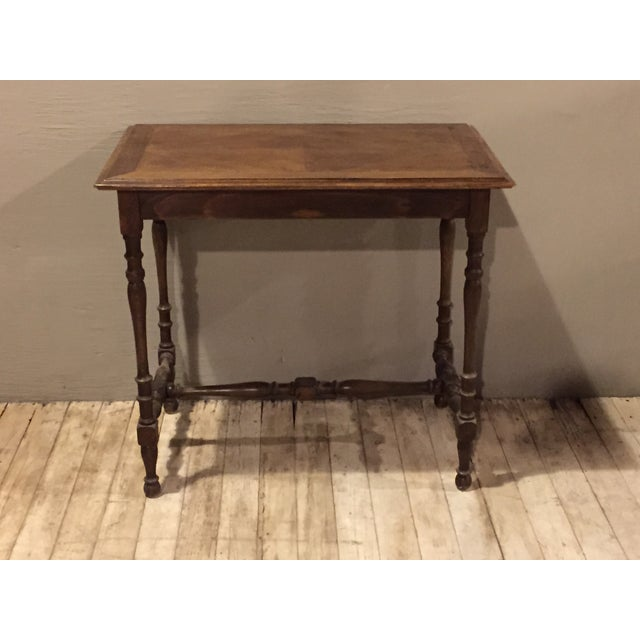 Image of Antique 1880s Directoire Table with Carved Legs