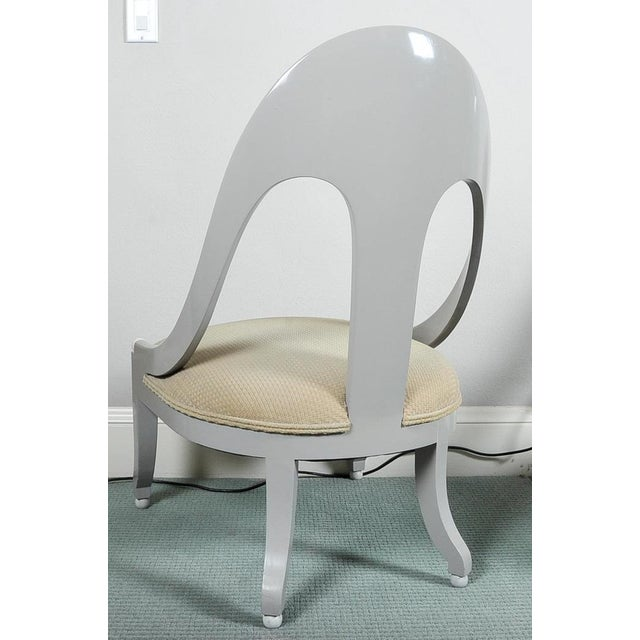 Custom Contemporary Grey Arched Chairs - Pair - Image 8 of 8