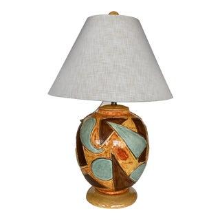 Ceramic Table Lamp Signed Mantell Original