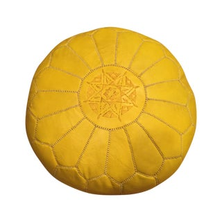 Yellow Moroccan Pouf