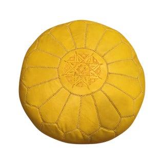Yellow Moroccan Pouf