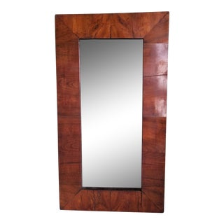 Antique Biedermeier Style Walnut Veneered Mirror