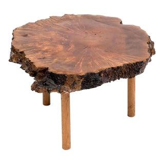 Mid-Century Live Edge Walnut Coffee Table