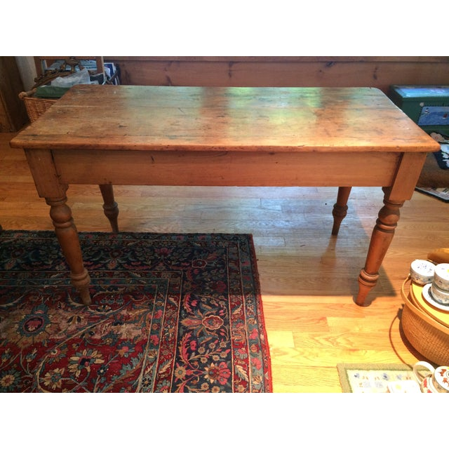 Antique Rustic Pine Console Table - Image 9 of 9