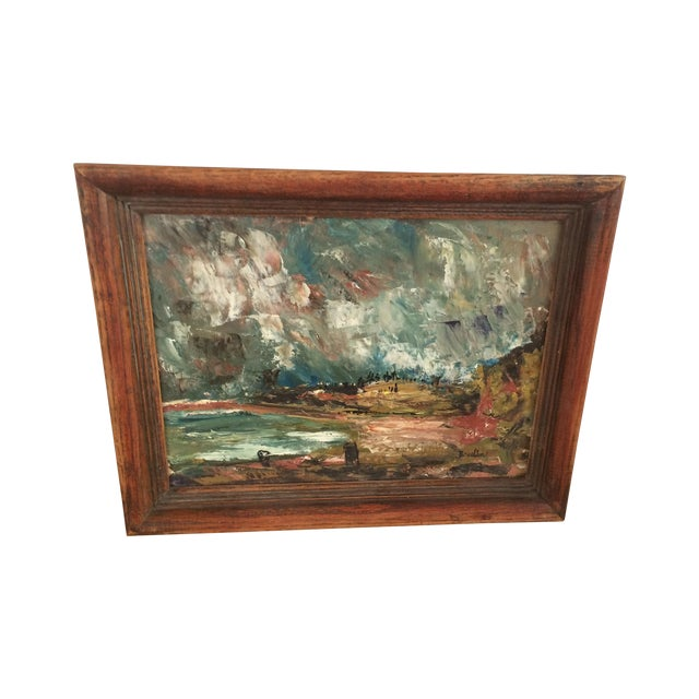 Wynn Breslin Landscape 1960s Oil Painting - Image 1 of 7